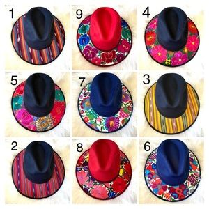 Women's Embroidered Artisanal Mexican Hats